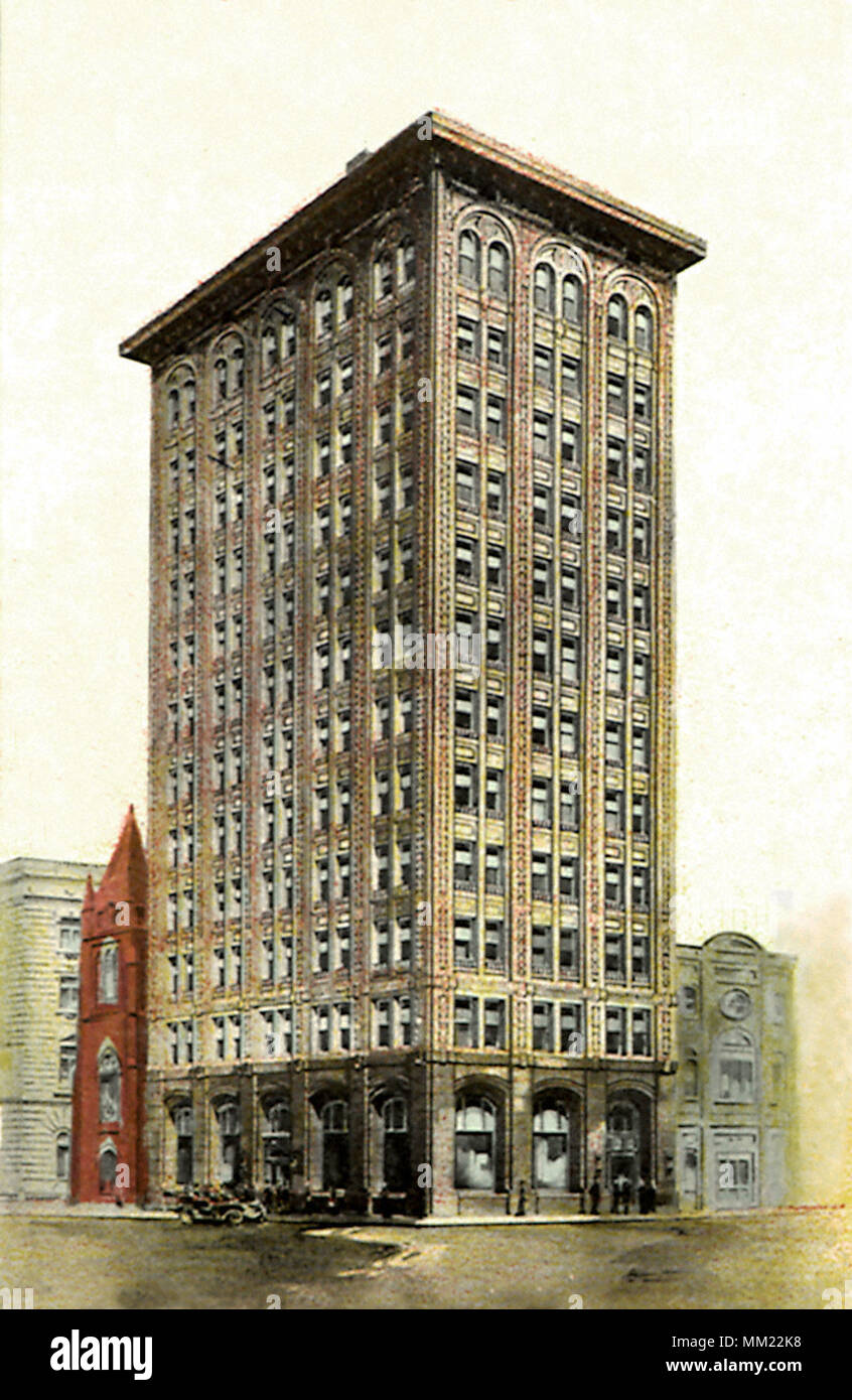 Mahoning Bank Building. Youngstown. 1915 - Stock Image