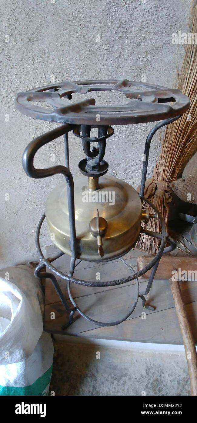Oil operated Primus stove pressurized-burner kerosene (paraffin) stove, - Stock Image