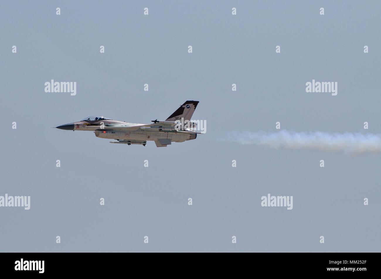Radio controlled model aircraft demonstration at the IAF Air Show, Haifa, Israel - Stock Image