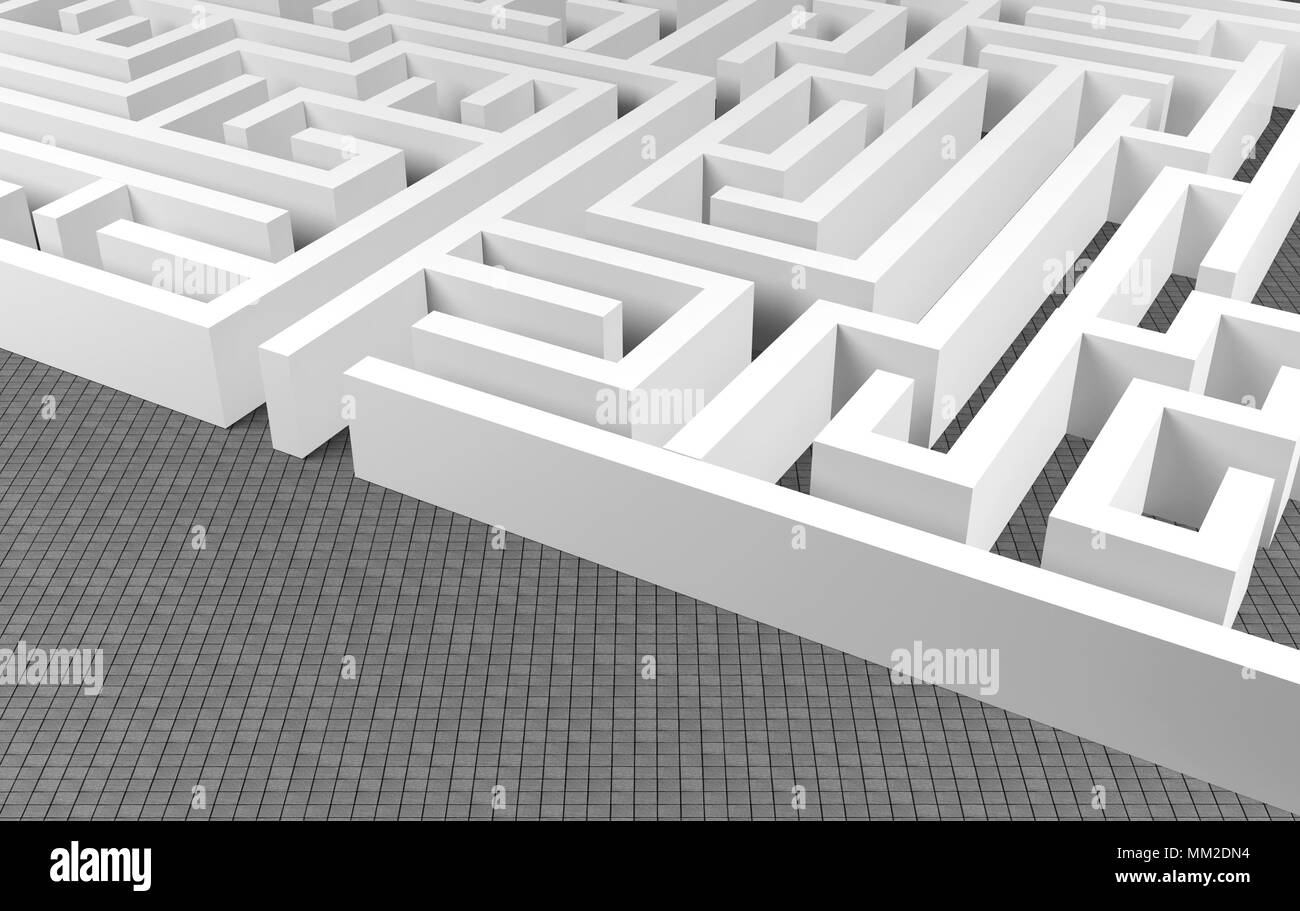 Maze background, complex problem solving concept Stock Photo