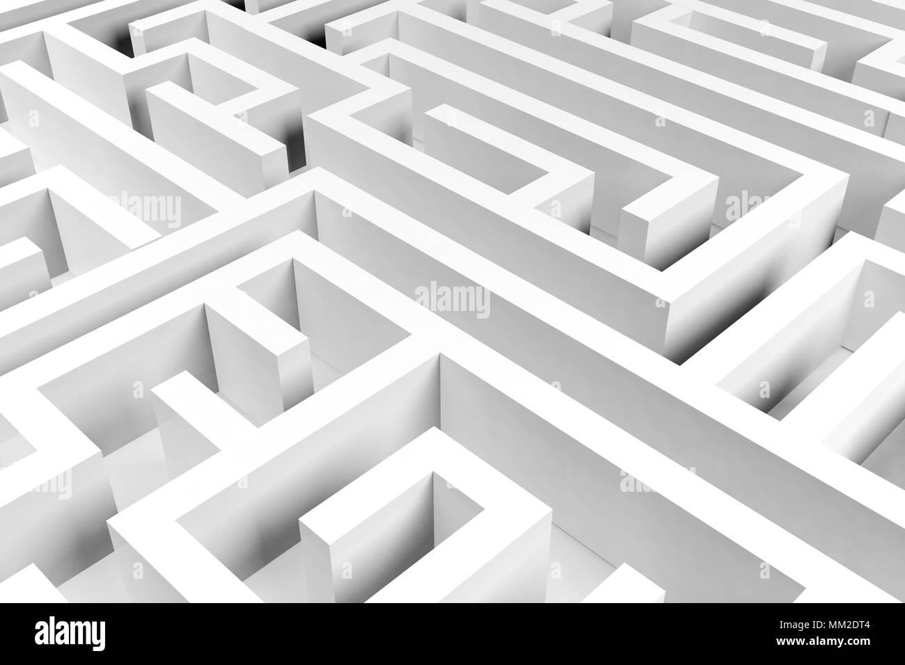 Maze background, complex problem solving concept Stock Photo