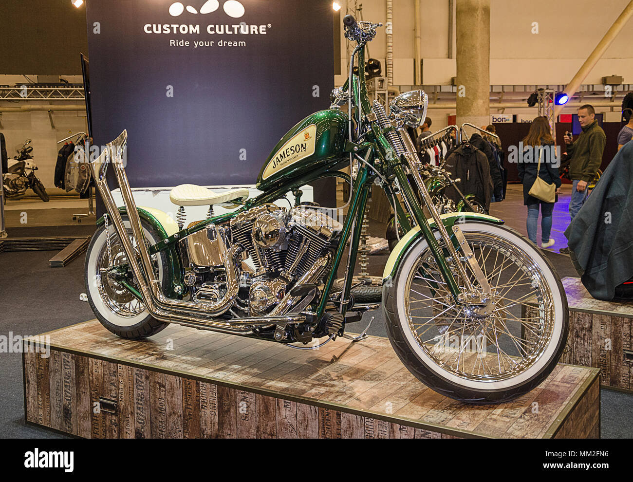 Kiev, Ukraine April 20, 2018, motobike is represented at an exhibition held in the International Exhibition Cente - Stock Image