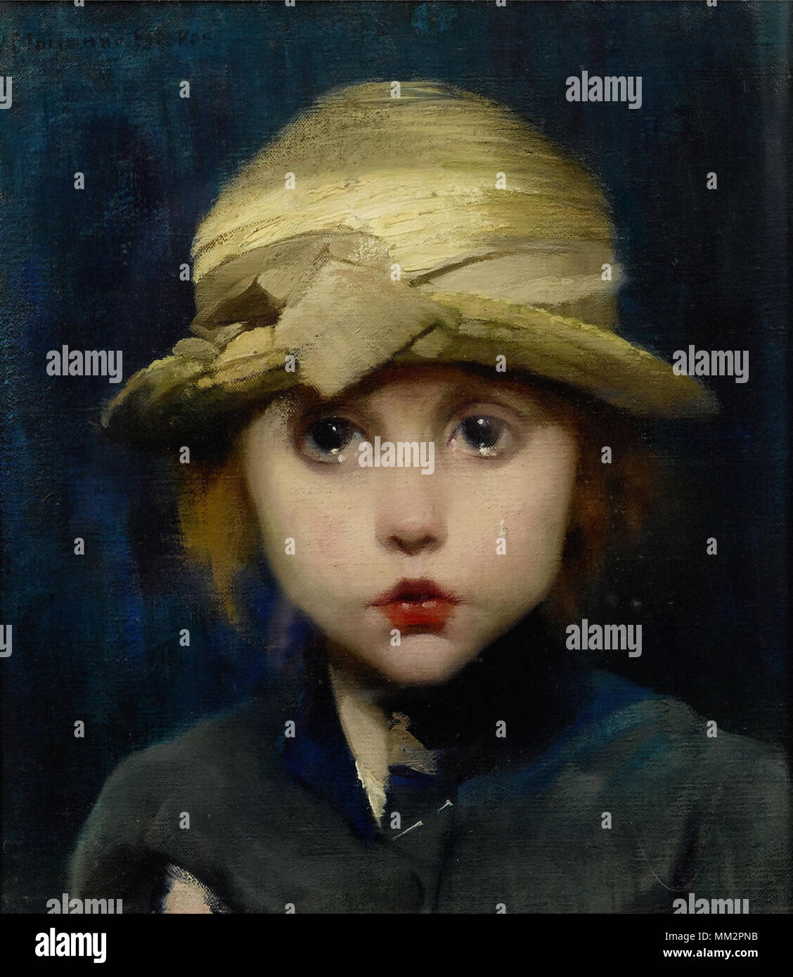 Stokes-Preindlsberger Marianne - a Tearful Child - Stock Image