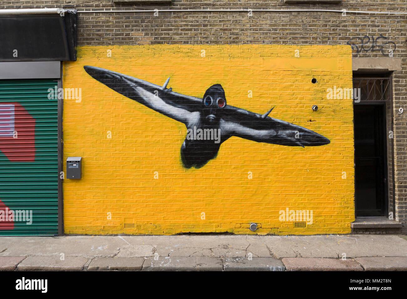 Street Art, Chance Street, London, E1 Stock Photo