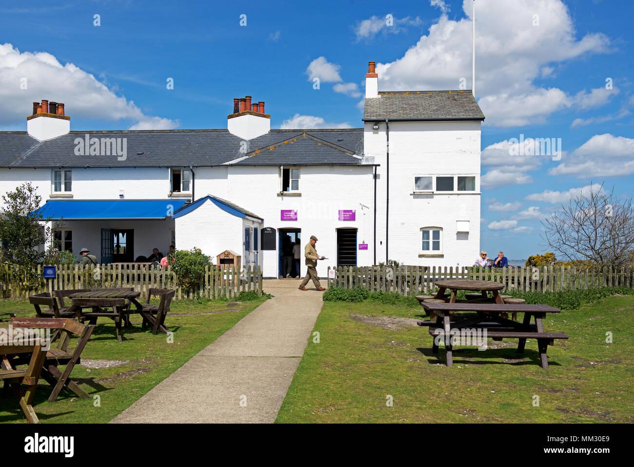 Tea-room, Dunwich Heath, Suffolk, England UK - Stock Image