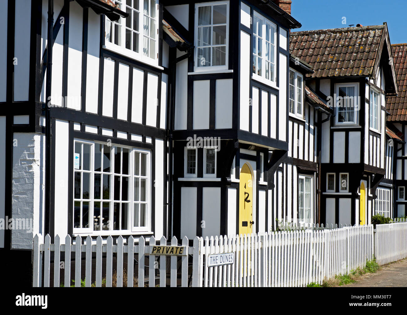 Houses in Thorpeness, Suffolk, England UK - Stock Image