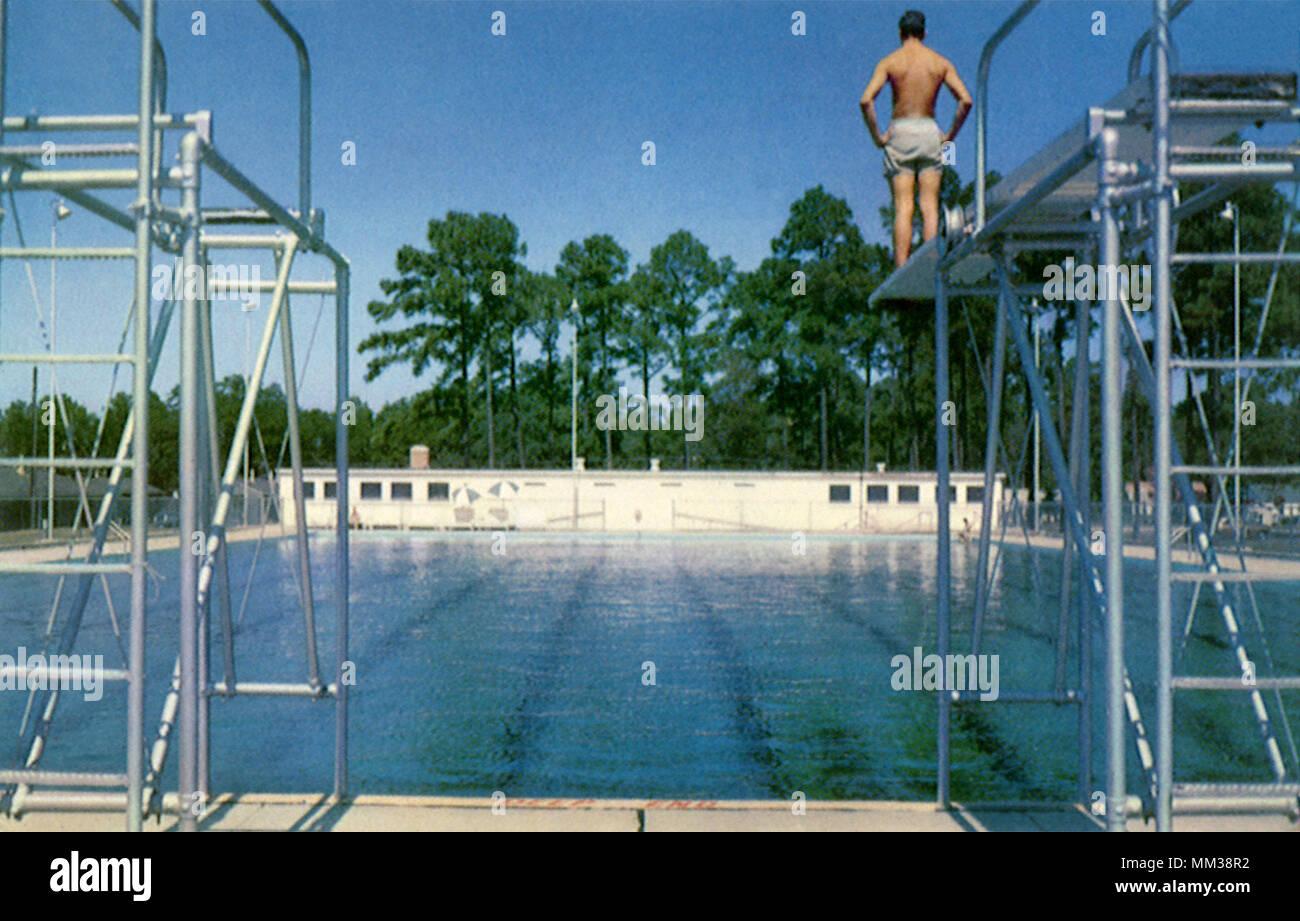Keesler Air Force Base Pool  Biloxi  1958 Stock Photo