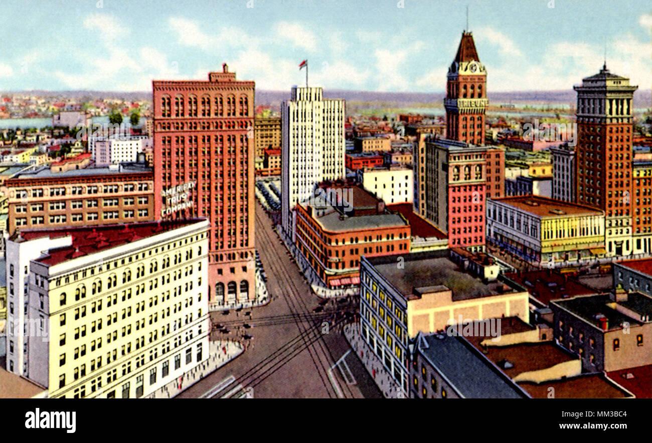 Fourteenth at Broadway. Oakland. 1945 - Stock Image