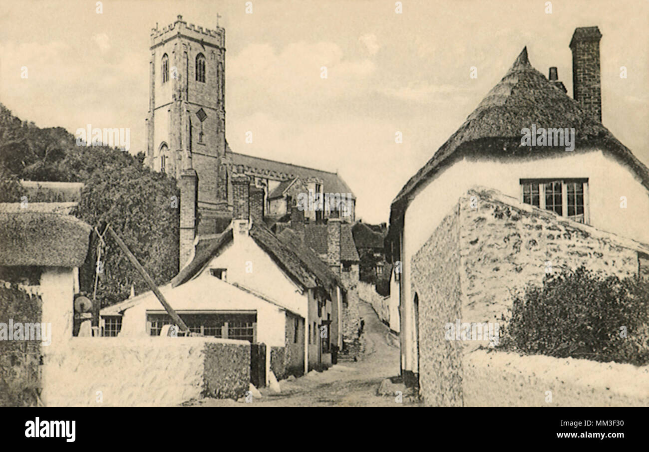 Church Lane. Minehead. 1906 - Stock Image