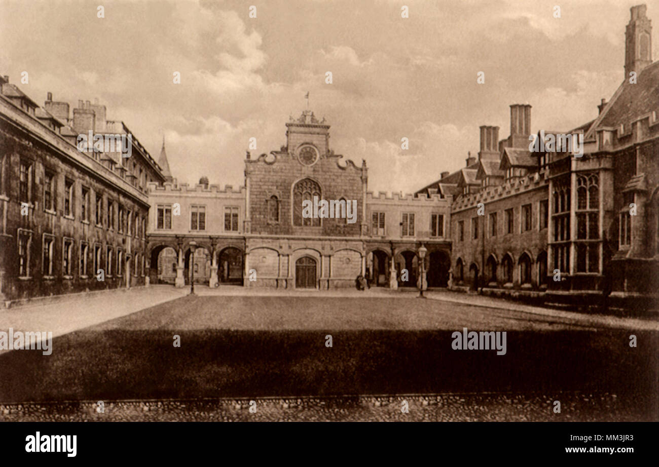 Peterhouse College. Cambridge. 1910 - Stock Image