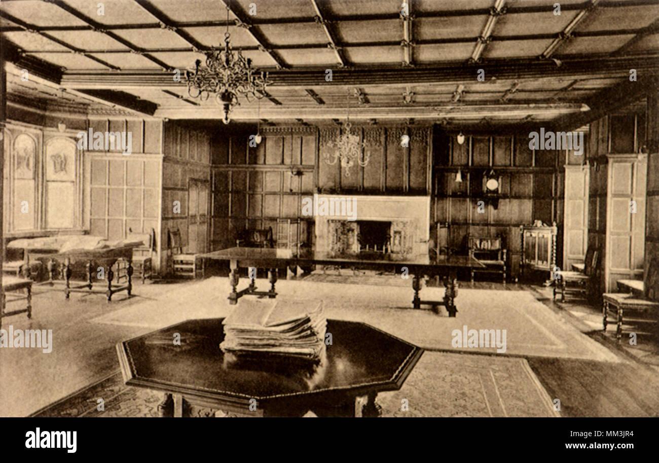 Room at Peterhouse. Cambridge. 1910 - Stock Image