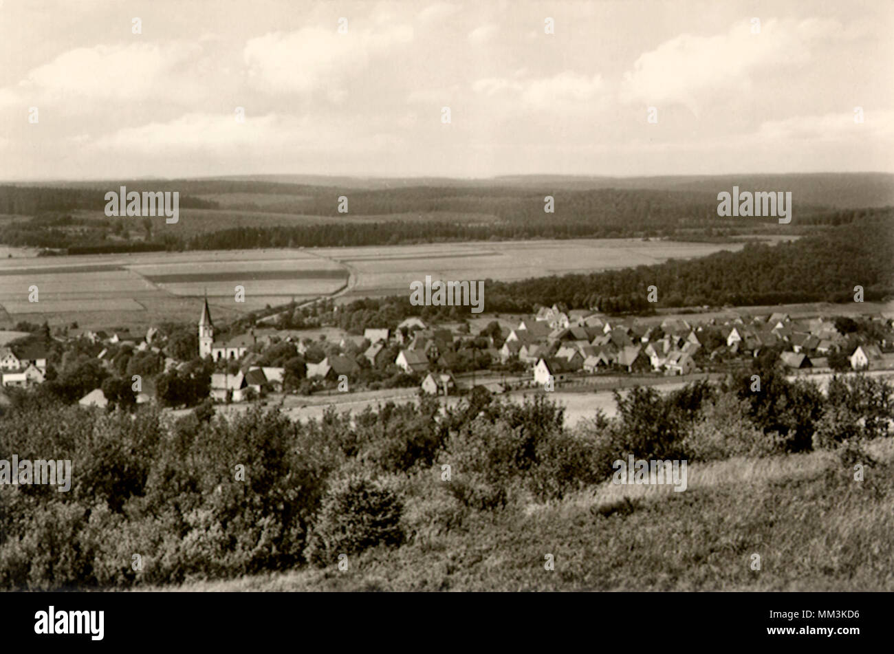 View of High Country. Brilon. 1918 - Stock Image