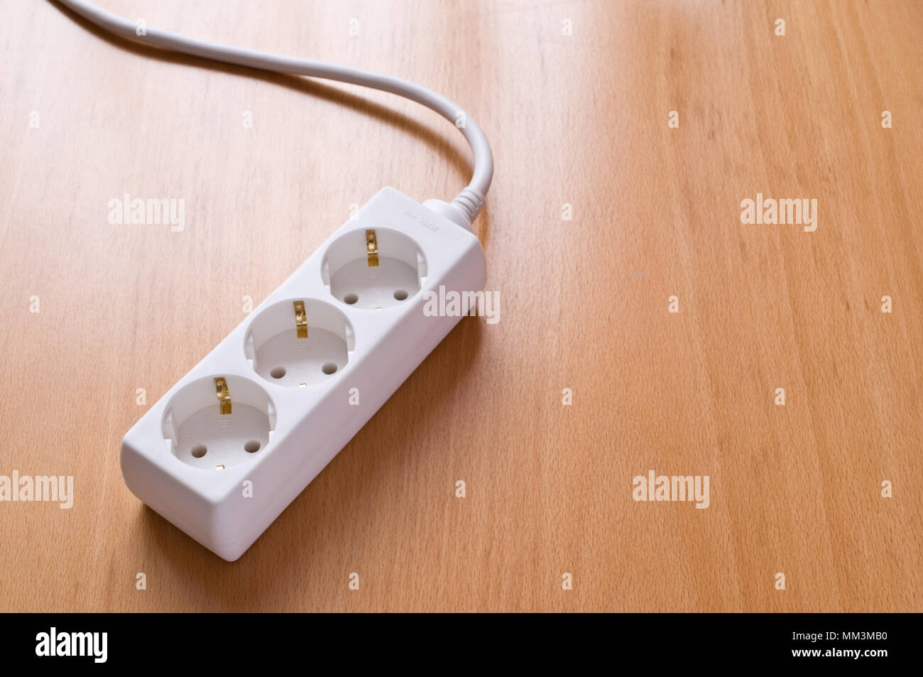 Multiple Plug Stock Photos Images Alamy How To Wire Electrical Outlets Socket Outlet On Wooden Floor Image