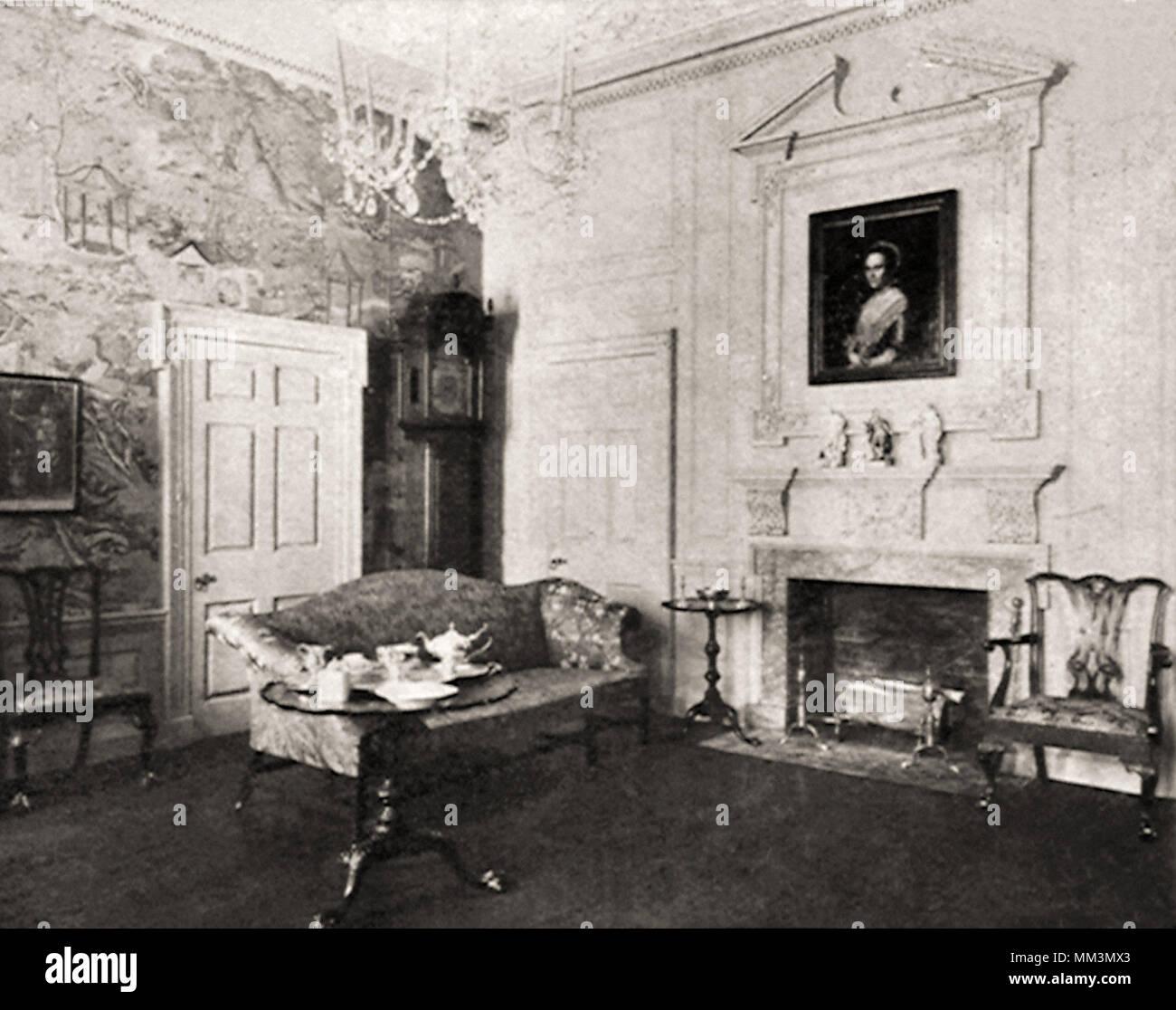 Room from Powel House. Philadelphia. 1768 - Stock Image