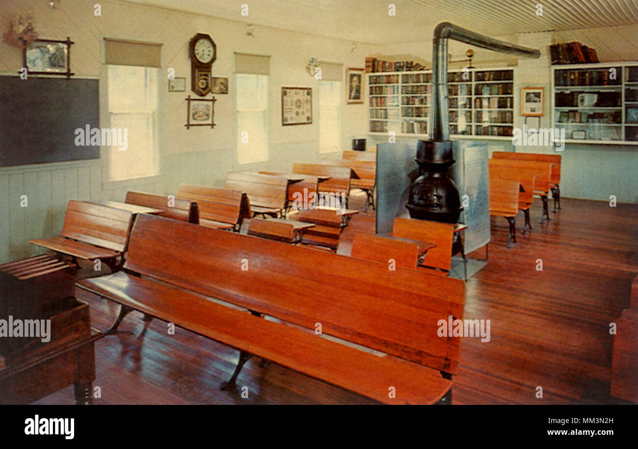 One Room Country School. Kearney. 1950 - Stock Image