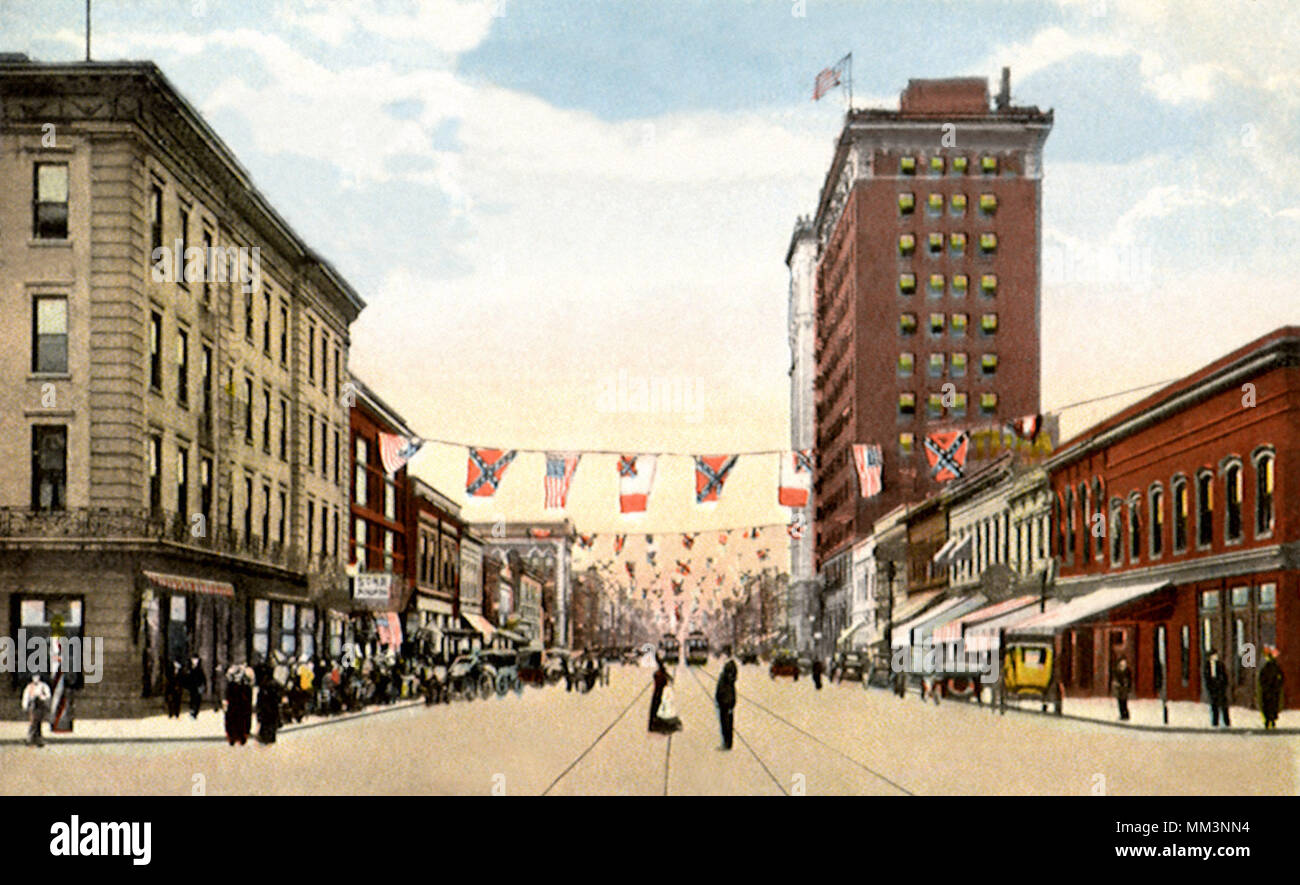 Main Street from Lady Street. Columbia. 1915 - Stock Image