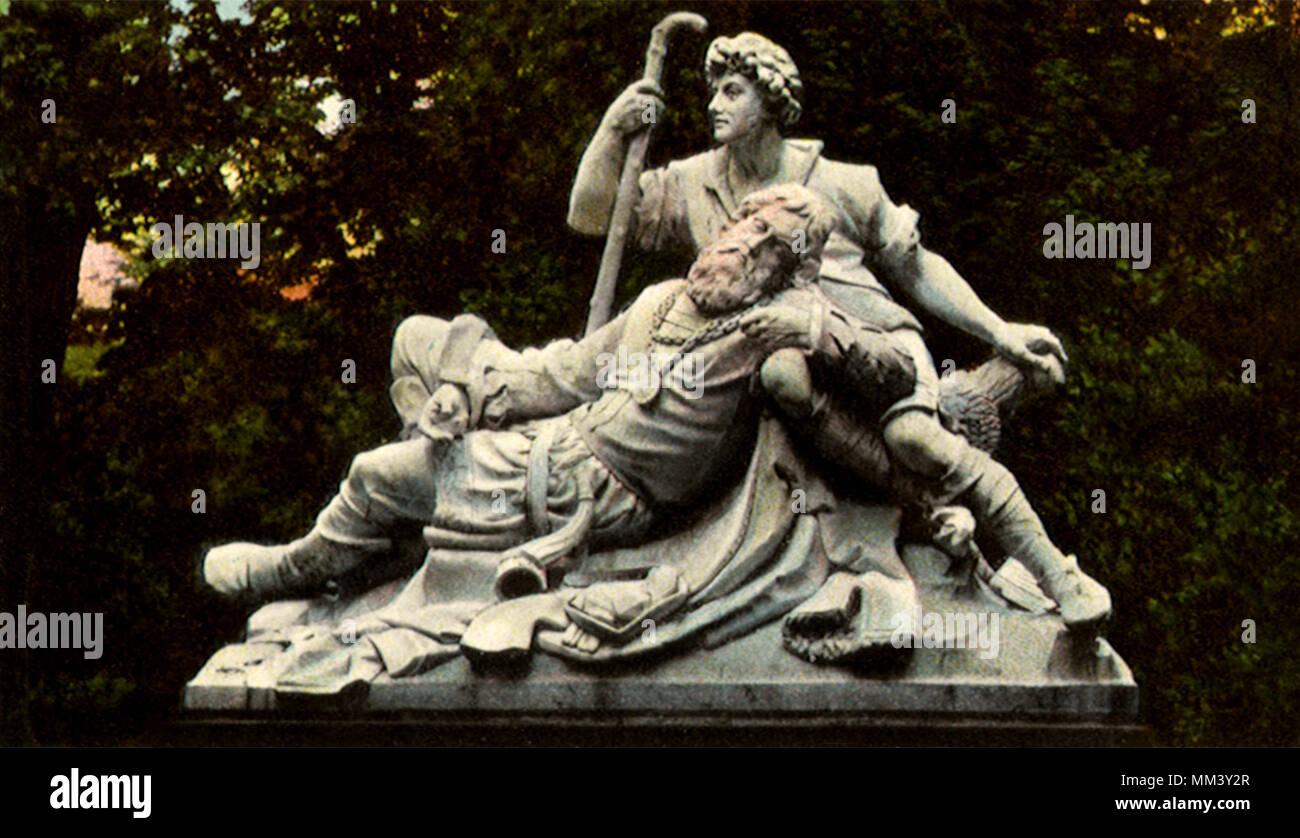 Eberhard Sculpture. Stuttgart. 1910 - Stock Image