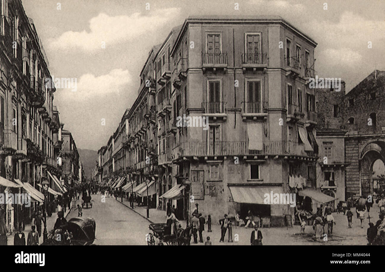 Buildings before 1908 Disaster. Messina. 1907 - Stock Image