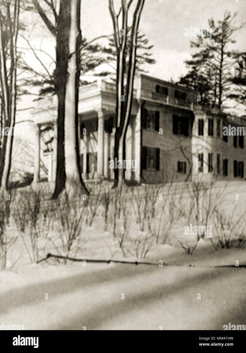 Lame Building at Hospital. West Roxbury. 1921 - Stock Image