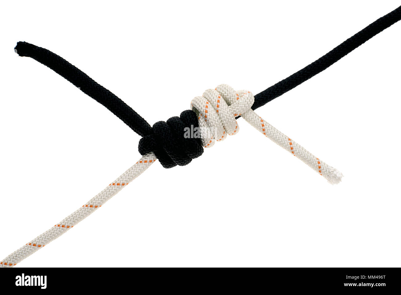 tied ropes - Stock Image