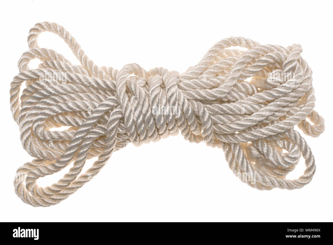 white tied rope - Stock Image