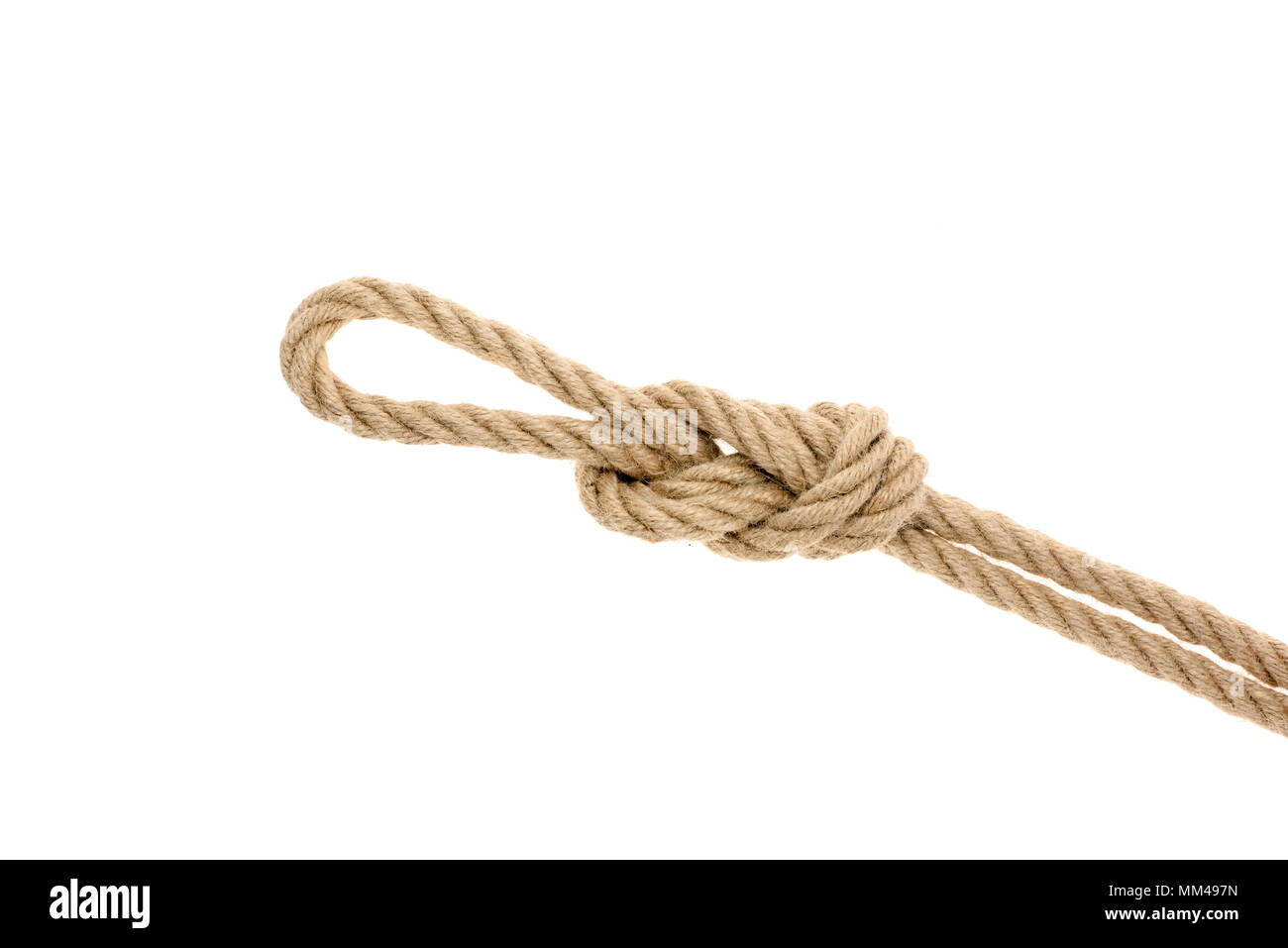 nautical rope with knot Stock Photo: 184491881 - Alamy