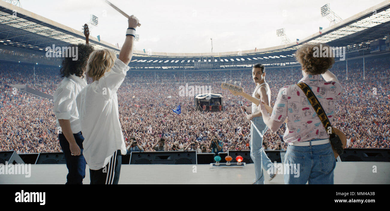 Freddie Mercury Live Aid Stock Photos & Freddie Mercury Live