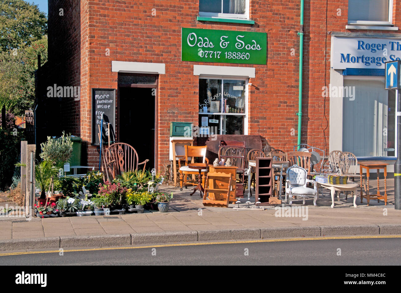 Attleborough, Odds & Sods, Norfolk, England - Stock Image