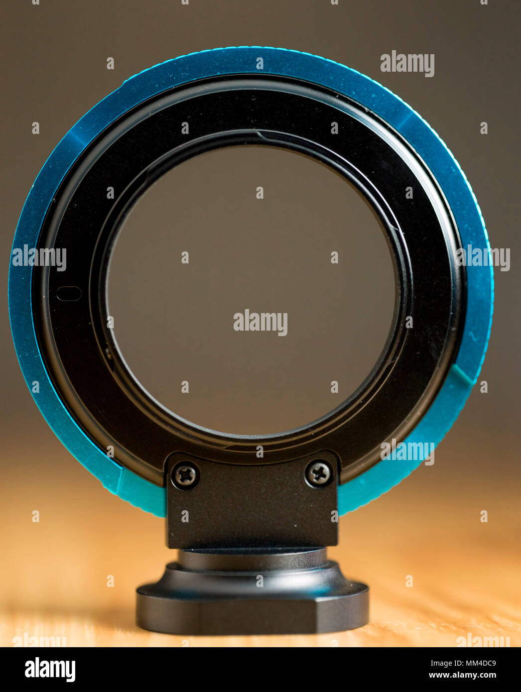 The unique PL to EF lens mount adapter for use in professional video production. - Stock Image