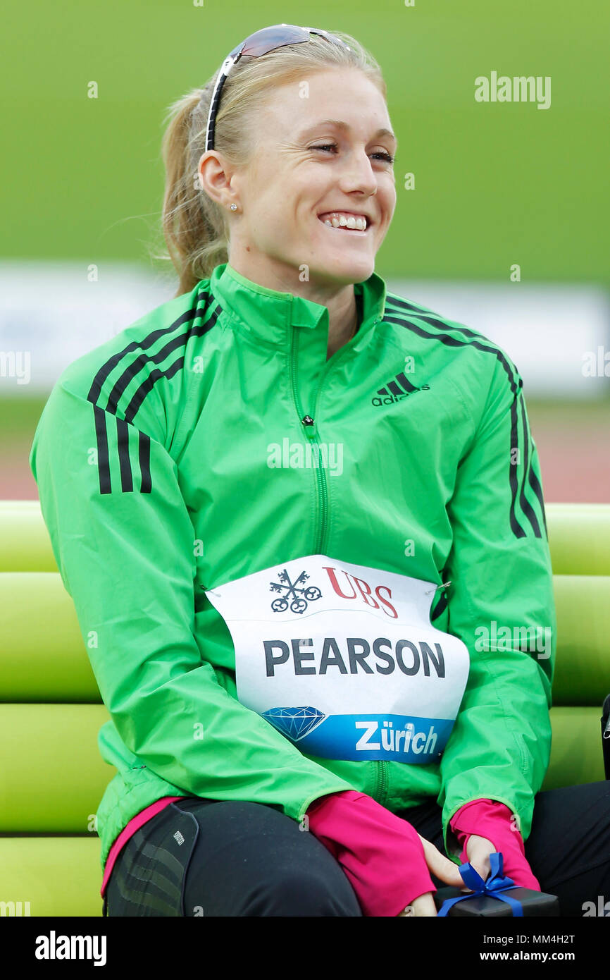 Zurich, Switzerland. 08th, Sep 2011.  Australian's Sally  Person before competition in the final of the Women's 100m hurdle during the IAFF Diamond Le Stock Photo