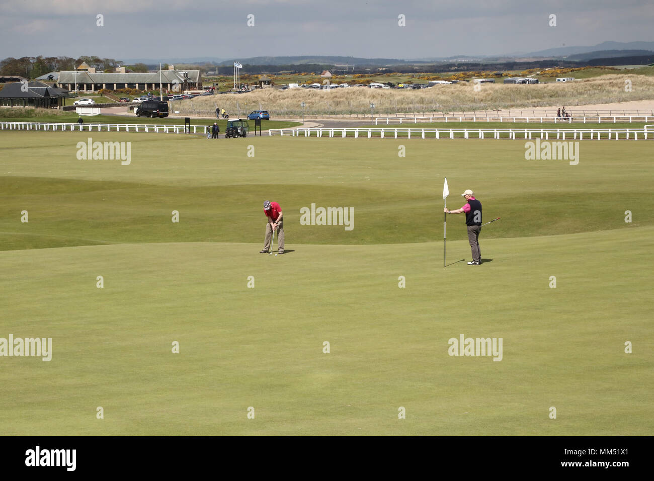 St. Andrews in Fife, Scotland. Known as the Auld Grey Toon and the home of golf. The R and A is based there along with the world famous Old Course. - Stock Image
