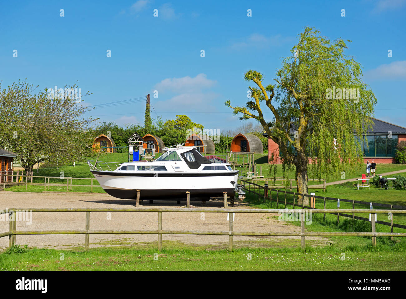 The Waveney River Centre, Burgh St Peter, Norfolk, England UK - Stock Image