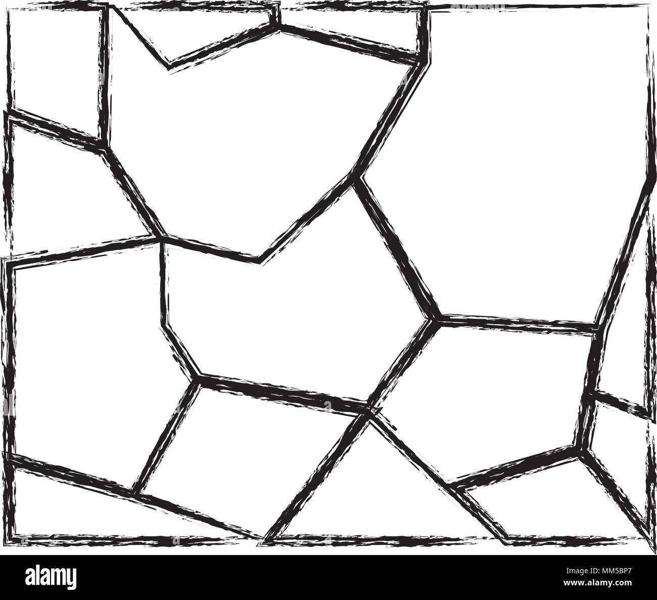 grunge stone texture wall architecture structure - Stock Vector