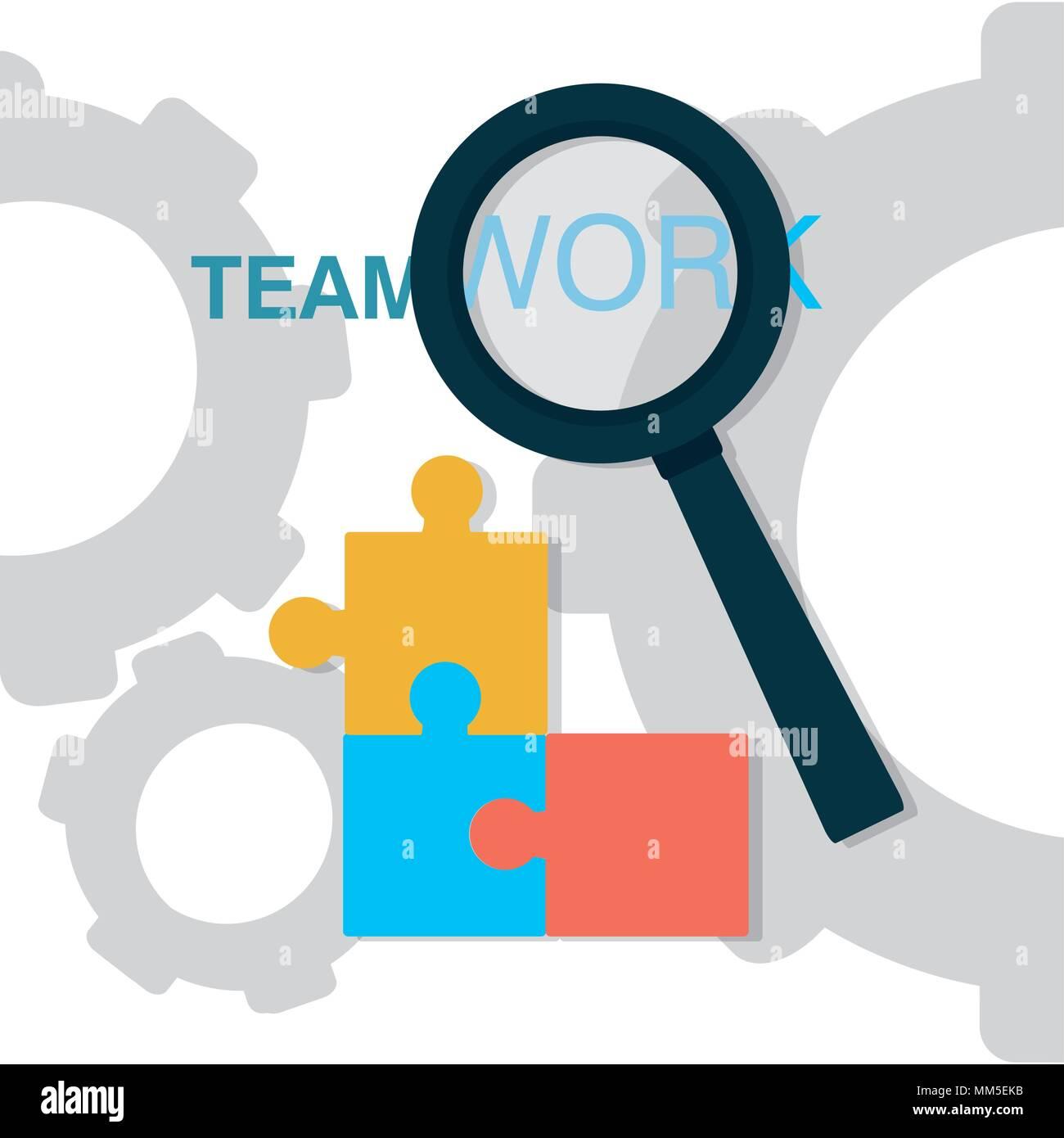 Business teamwork concept - Stock Vector