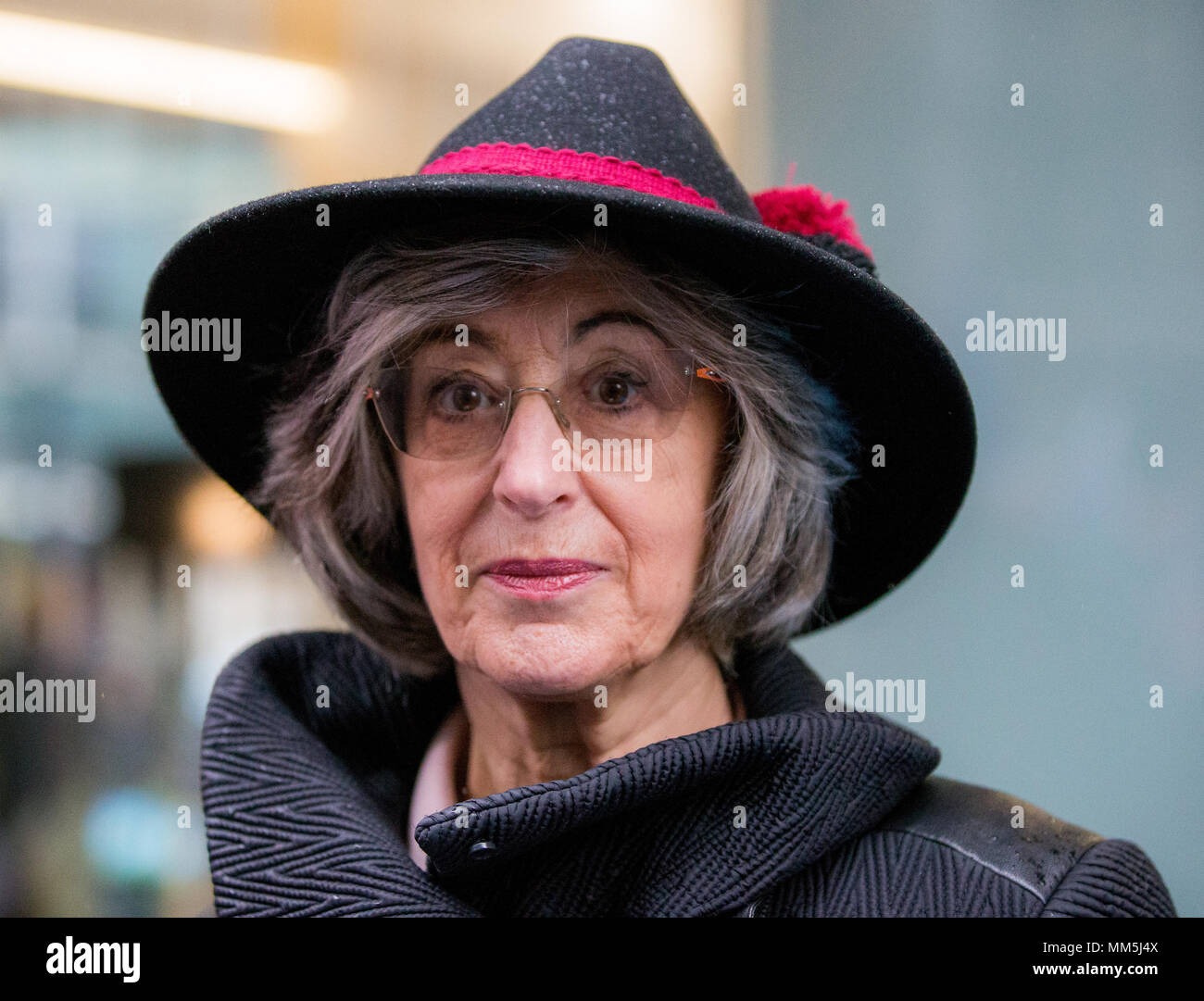 Amid disputes over the Labour party's handling of claims of anti-semitism, Campaign Against Antisemitism stage demonstration at Labour Party head office in Victoria.  Featuring: Maureen Lipman Where: London, England, United Kingdom When: 08 Apr 2018 Credit: Wheatley/WENN - Stock Image