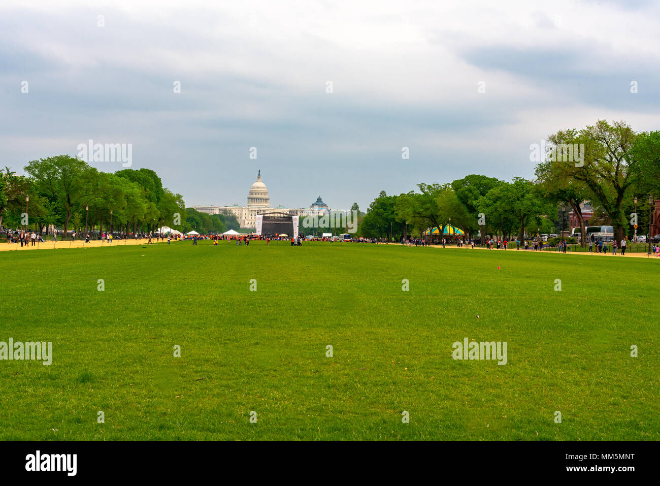 Photo of the Capital taken from the Washington Mall. - Stock Image