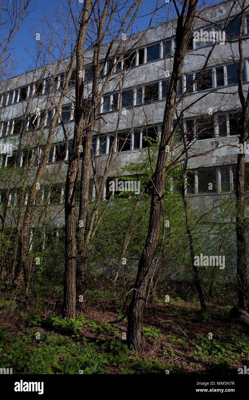Empty town of Pripyat near Chernobyl Nuclear Power Plant