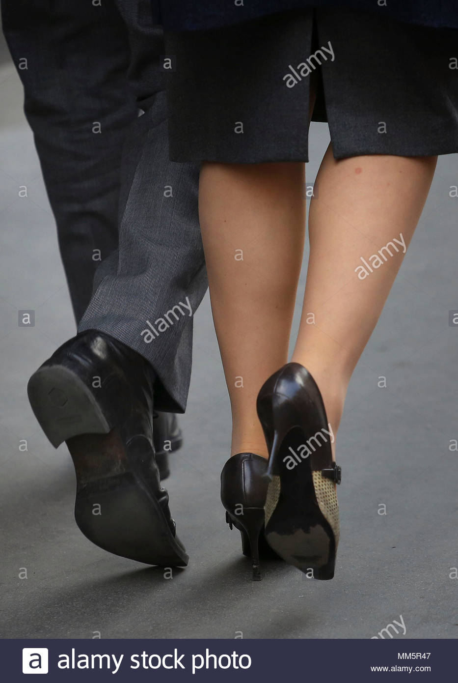 Embargoed to 0001 Thursday May 10 File photo dated 08/04/15 of city workers. Research by the TUC reveals that one in nine workers are in insecure jobs such as those on zero hours contracts, low paid self employment or temporary posts. - Stock Image