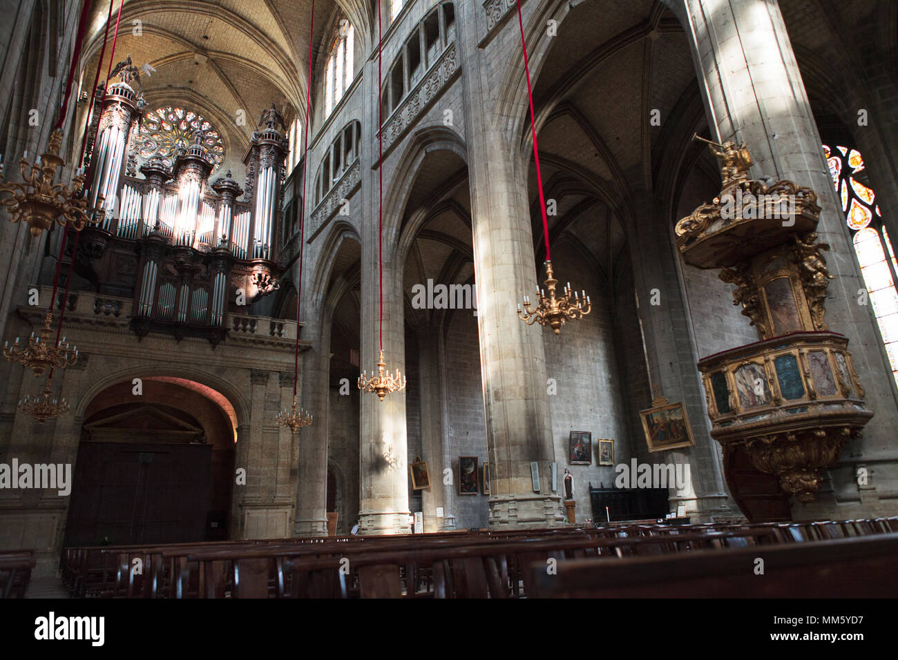 Inside view of the roman Catholic archdiocese of Auch, Gers, France ...