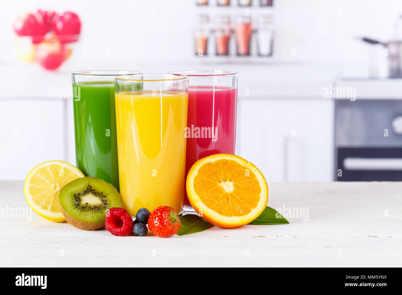 Juice smoothie smoothies orange oranges fruit fruits fresh drink - Stock Image