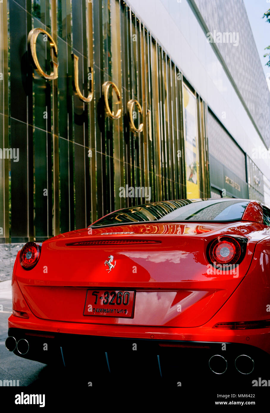 Transport - Classic Super Car - Ferrari in Sukhumvit in Bangkok in Thailand in Southeast Asia Far East. Gucci Wealth Wealthy Money Rich Lifestyle - Stock Image