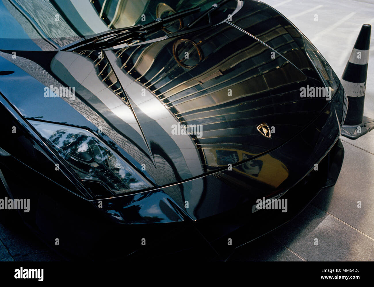 Transport - Classic Super Car - Lamborghini in Sukhumvit in Bangkok in Thailand in Southeast Asia Far East. Cars Money Wealth Wealthy Rich Lifestyle - Stock Image