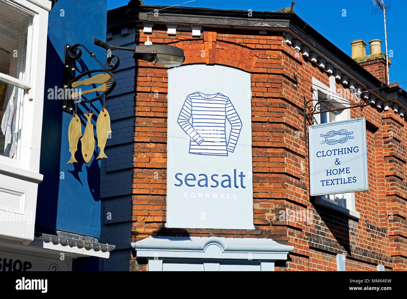 Sign for Seasalt clothing shop in Southwold, Suffolk, England UK - Stock Image