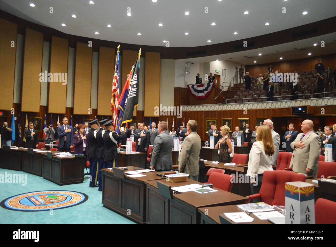 Arizona State Representatives >> State Leaders Sing The National Anthem On The House Of