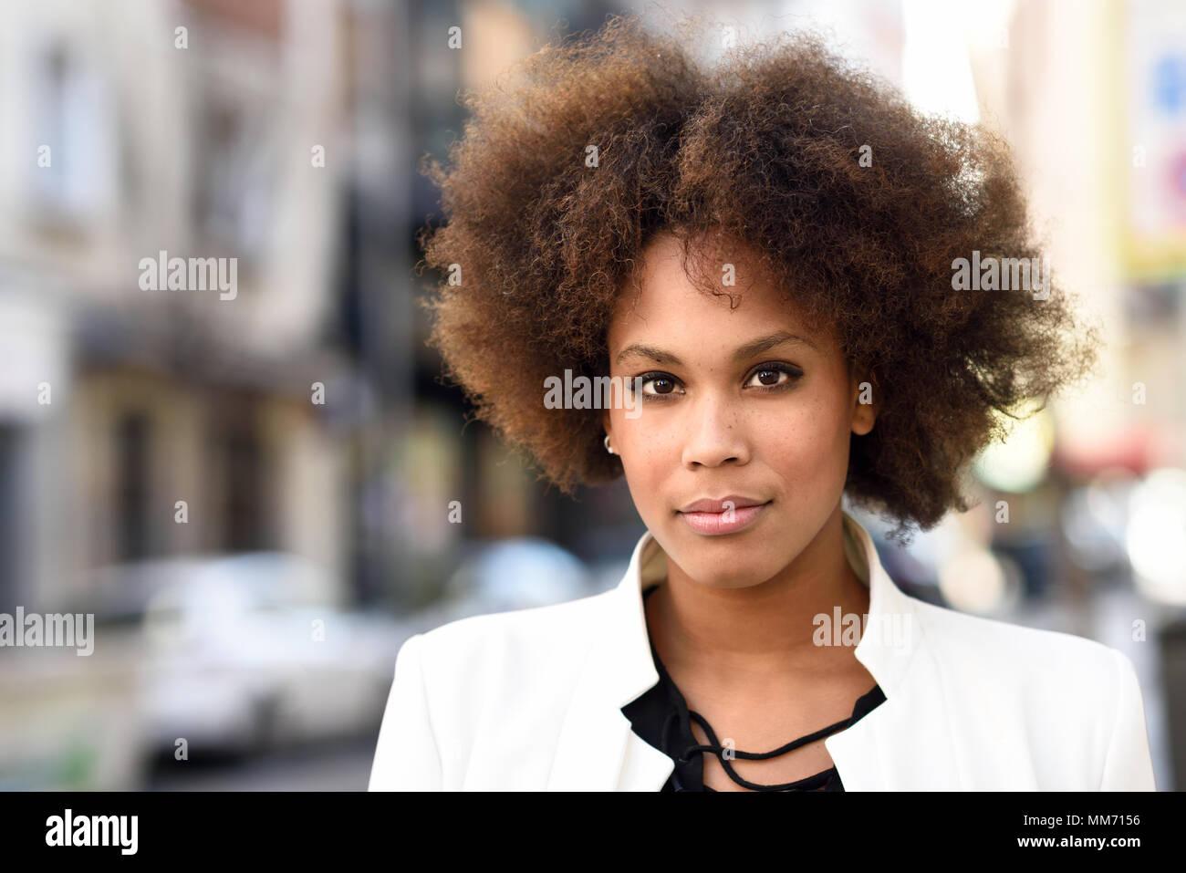Afro white girl For white