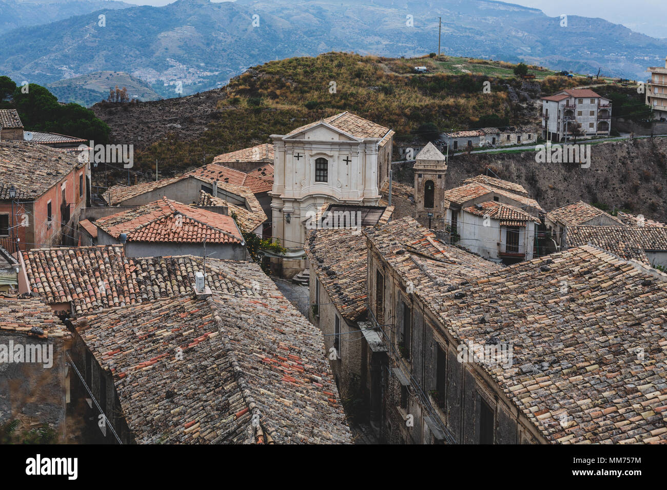 View of Gerace, Calabria, Italy - Stock Image