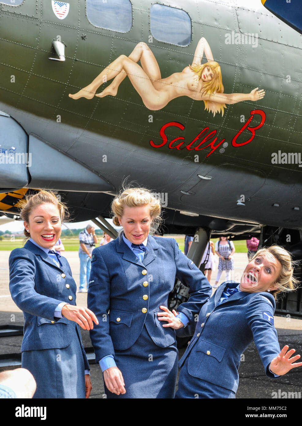 The D-Day Darlings female singing group recently on