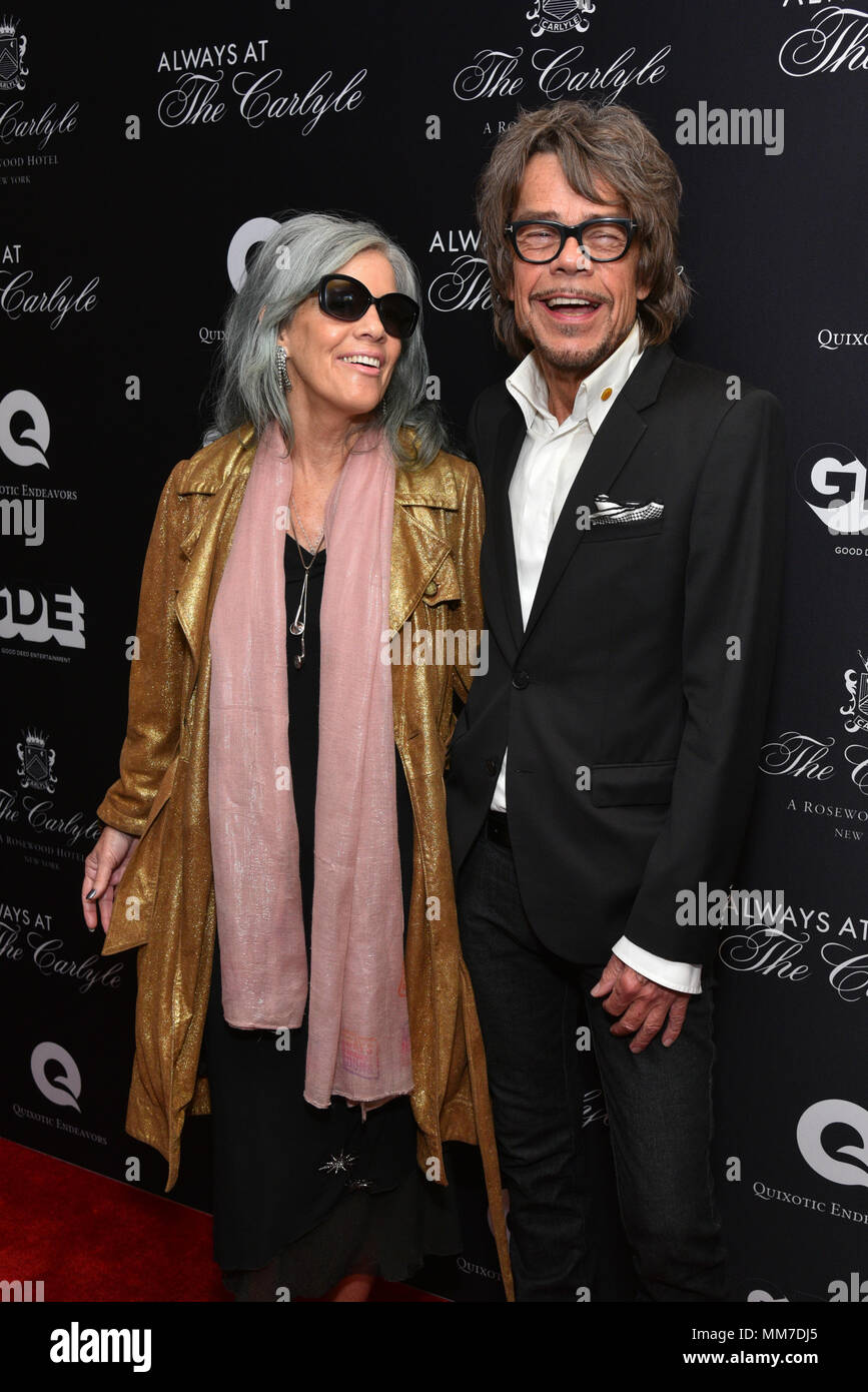 New York, USA. 8th May, 2018. Mara Hennessey and David David Johansen attend the Always At The Carlyle Premiere on May 8, 2018 in New York City. Credit: Erik Pendzich/Alamy Live News Stock Photo