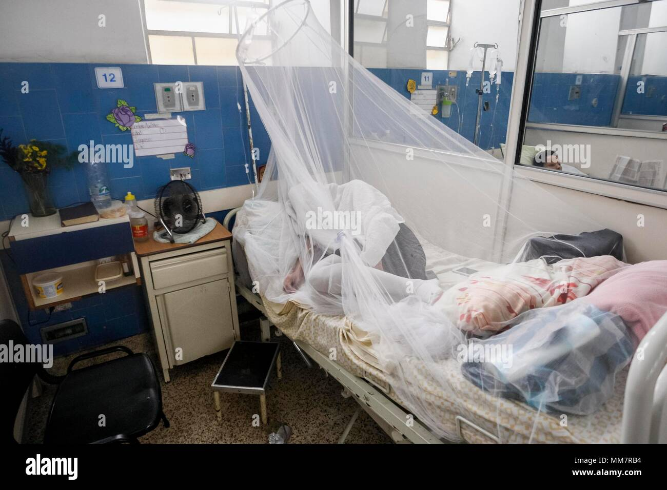 A view of the facilities at the Dr. Jose Maria Vargas Hospital in Caracas, Venezuela, 10 May 2018. Patients and healthcare professionals protested for the deterioration of the public health system at the hospital and a group of alleged chavists held several journalists and a group of doctors participating in the protest hostage. EFE/Edwinge Montilva - Stock Image