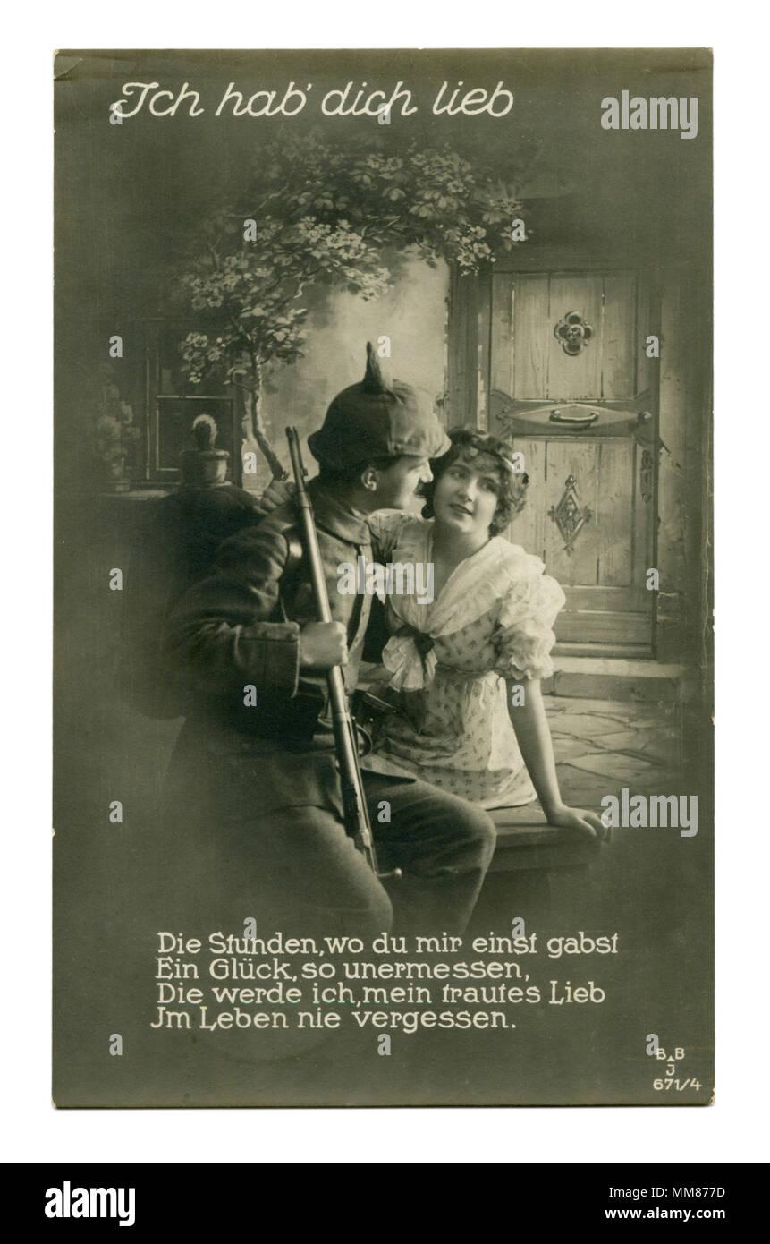 postcards Dating german